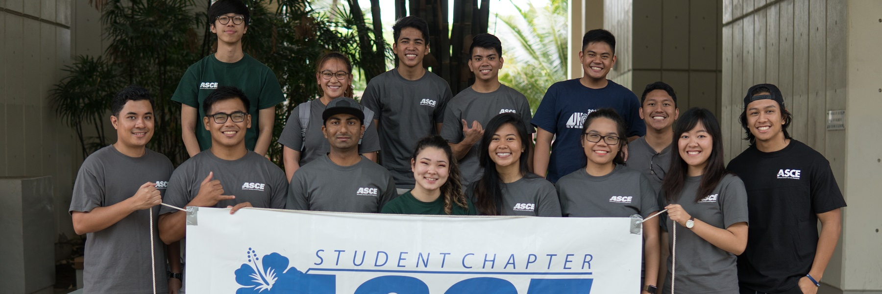 Group Photo Of UH Chapter Of ASCE.
