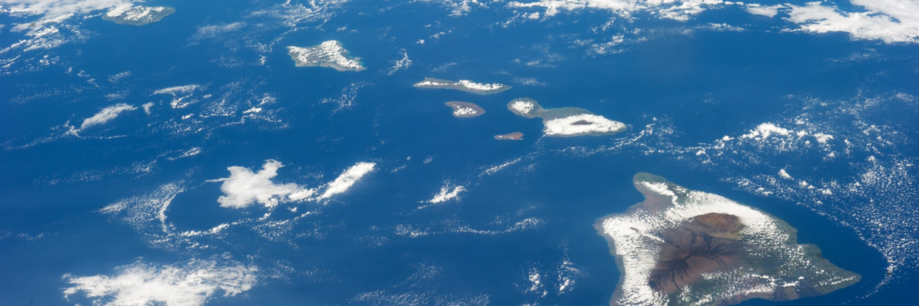 Satellite Image Of Hawaii From Space.