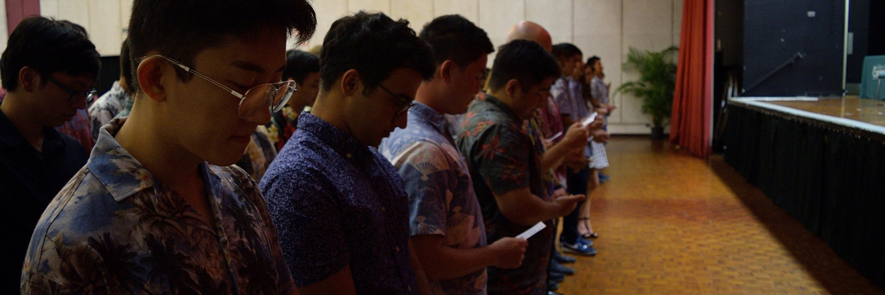 Students Taking The Obligation Of An Engineer Oath.
