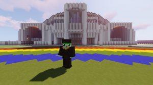 Screenshot of graduate on Ching Field in Minecraft.