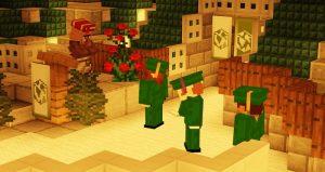 Screenshot of Minecraft graduation ceremony.