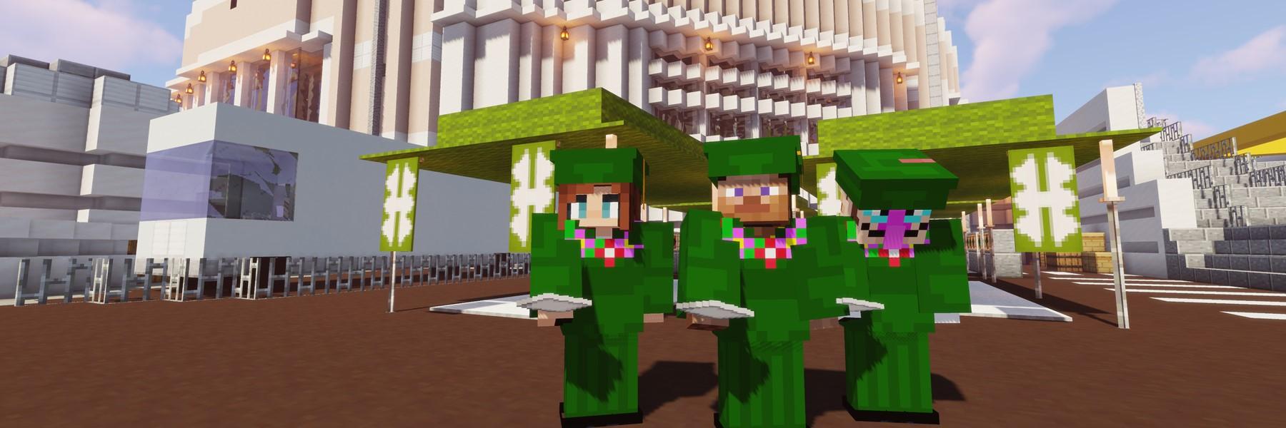 Screenshot Of Minecraft Graduates In Game.
