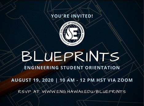 Blueprints invitation cover