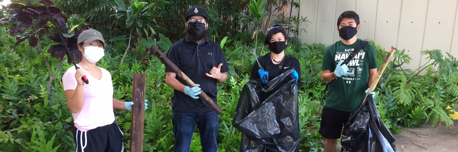 Group Of Students Holding Garbage Bags