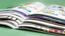 A stack of brochures